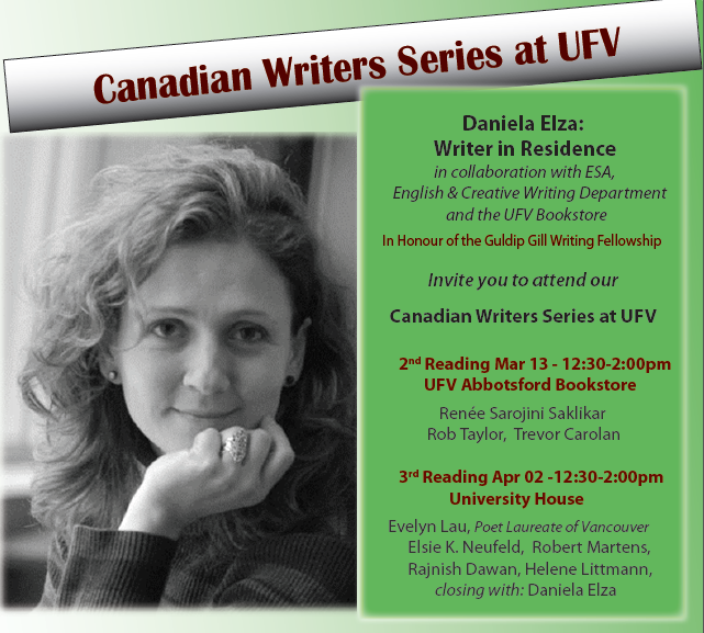 Writers at University of Fraser Valley